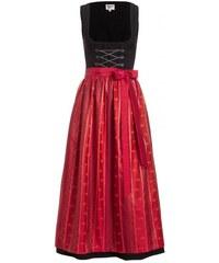 Distler Damen Schwarzes Dirndl ärmellos mit Metallschnürung - 90 cm Kettenschnürung schwarz