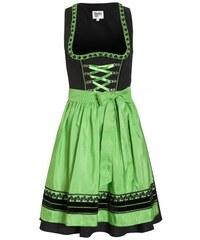 Distler Damen Schwarzes Dirndl mit Pailletten und Uni-Schürze - 55 cm grün