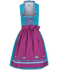 Distler Damen Kurz-Dirndl - 60 cm Rocklänge 60 cm blau aus Baumwolle