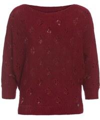 COOL CODE Damen Pullover Sweatshirt komfortabel rot mit Wolle