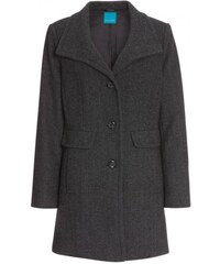 COOL CODE Damen Mantel Jacke Kurzmantel grau mit Wolle