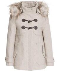 Livre Damen Jacke für den Übergang abtrennbare Kapuze beige mit Wolle