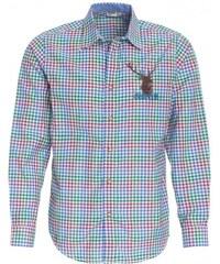 Distler Herren Hemd figurnah blau aus Baumwolle