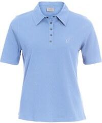 Michèle Boyard Damen Poloshirt T-Shirt körpernah blau aus Baumwolle