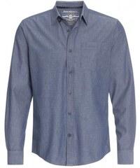 COOL CODE Herren Hemd körperbetont blau aus Baumwolle