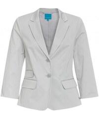 COOL CODE Damen Blazer figurnah grau aus Baumwolle