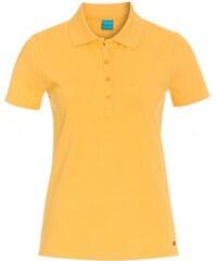 COOL CODE Damen Poloshirt T-Shirt körpernah gelb aus Baumwolle