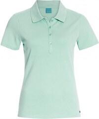 COOL CODE Damen Poloshirt T-Shirt körpernah blau aus Baumwolle