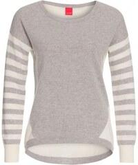 Livre Damen Pullover Sweatshirt körperbetont grau