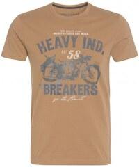 COOL CODE Herren T-Shirt Rundhalsausschnitt braun aus Baumwolle