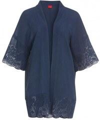 Livre Damen Jacke OversizePoncho blau aus Baumwolle