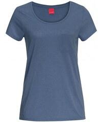 Livre Damen T-Shirt körperbetont Rundhalsausschnitt blau