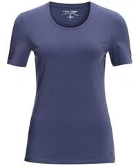 COOL CODE Damen T-Shirt figurnah blau aus Baumwolle