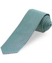Paul R.Smith Herren Krawatte Breite 7 cm grün aus echter Seide