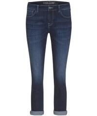 COOL CODE Damen Jeans Hose Boyfriend lässig 7/8 Länge blau aus Baumwolle