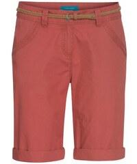 COOL CODE Damen Bermuda kurze Hose Bermuda, kniefrei rot aus Baumwolle