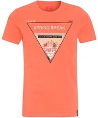 Tantum O.N. Herren T-Shirt Rundhalsausschnitt orange aus Baumwolle