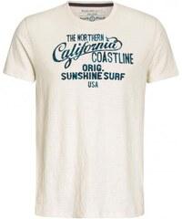 COOL CODE Herren T-Shirt Rundhalsausschnitt beige aus Baumwolle