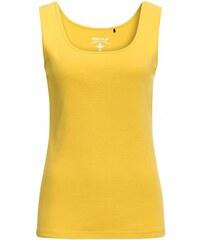 COOL CODE Damen Top ärmellos figurnah gelb aus Baumwolle