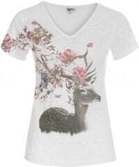 Distler Damen T-Shirt figurnah weiß