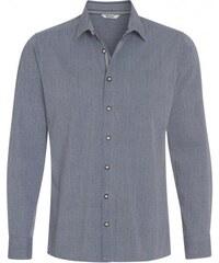 Distler Herren Hemd leicht tailliert blau aus Baumwolle