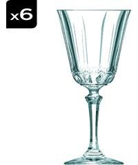 Cristal d'Arques Allure - Lot de 6 verres à pied 17 cl - transparent