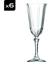 Cristal d'Arques Allure - Lot de 6 flûtes à champagne - transparent