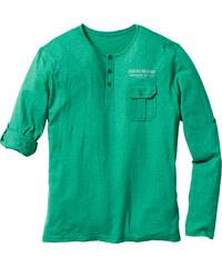 John Baner JEANSWEAR T-shirt à manches longues retroussables Regular Fit vert homme - bonprix