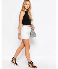Glamorous - Short en jean avec déchirures - Blanc