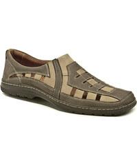 Koma pánská nadměrná letní obuv 713A hnědá