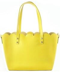 Kožená kabelka Giulia 0235 žlutá