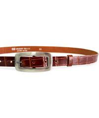 LM moda Kožený pásek dámský krokodýl 25-170-K40 hnědý