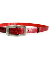 LM moda Kožený pásek dámský krokodýl 25-170-K40 červený