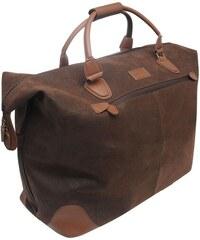 Cestovní taška Kangol Overnight hnědá