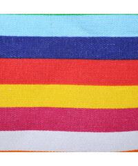 Lesara Strandtasche mit Kordel-Henkel - Mehrfarbig