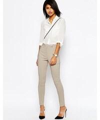 ASOS - Hose mit hoher Taille und enger Passform - Grau