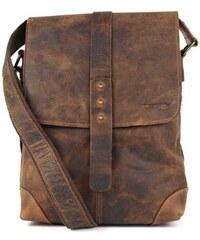 Kožená taška přes rameno GreenLand 2521, hnědá