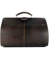 Kožená elegantní taška GreenLand 801, hnědá