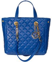 Glamorous by Glam GbyG prošívaná kožená kabelka modrá