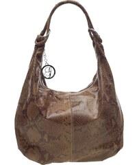 Glamorous by Glam Kožená kabelka s hadím vzorem - béžovo - hnědá