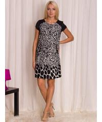 Glamorous by Glam Dámské černo - bílé šaty se zvířecím vzorem