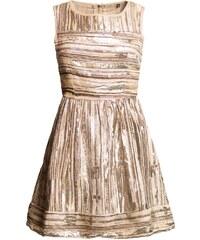 Due Linee Dámské elegantní šaty A střih s pruhy - zlatá