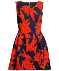 Due Linee Dámské šaty oranžovo - modré A střih