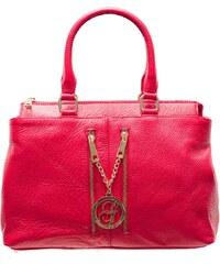 Glamorous by Glam Dámská kožená kabelka se 2 zipy tmavě červená