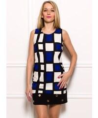 Glamorous by Glam Dámské elegantní šaty se vzorem černo - modré