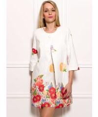 Glamorous by Glam Dámský elegantní kabátek s květy