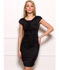 Rinascimento Dámské elegantní šaty s vázáním - černá