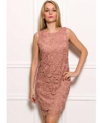 Glamorous by Glam Dámské šaty z krajky - pudrová