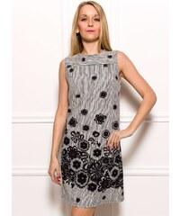 Glamorous by Glam Dámské elegantní šaty s černým vzorem