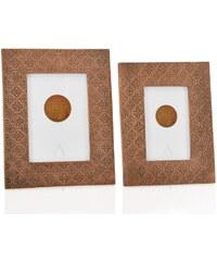Andrea house - Fotorámeček dřevo/kov měděný 10x15cm (AX15225)